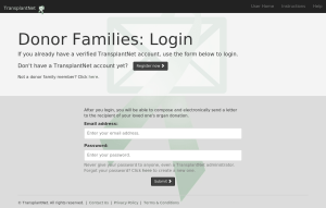 Donor family login